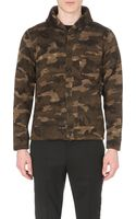 Beams Plus Shawl Collar Camoprint Cardigan Camo - Lyst
