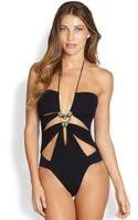 Gottex Onepiece Planet Cutout Swimsuit - Lyst