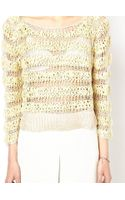 Ganni Jumper in Tape Knit - Lyst