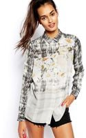 Asos Blouse in Ombre Fusion Print - Lyst