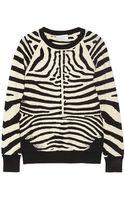 A.L.C. Rizzou Zebraprint Stretchknit Sweater - Lyst