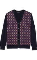 Marc Jacobs Check Front Cardigan - Lyst