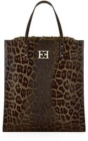 Escada Leopard Print Leather Tote - Lyst