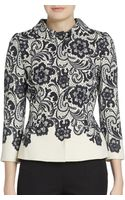 Dolce & Gabbana Fitted Contrast-lace Jacket - Lyst