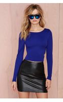 Nasty Gal Ninah Cutout Crop Top - Lyst