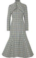 Vika Gazinskaya Checked Wool Coat - Lyst