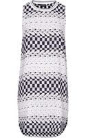 Topshop Geo Sports Tunic Dress Monochrome - Lyst