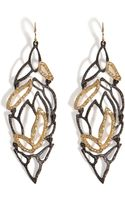 Alexis Bittar Phoenix Crystal Embellished Lacy Leaf Earrings - Lyst