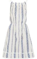 Zimmermann Hydra Embroidered Printed Cottonvoile Dress - Lyst