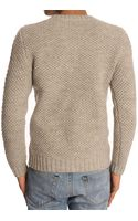A.P.C. Island Andes Wool Beige Sweater - Lyst