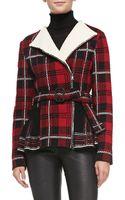 M Missoni Tartan Plaid Knit Peplum Jacket - Lyst