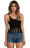 Indah Scoop Back Fringe Tank - Lyst