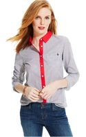 Tommy Hilfiger Striped Button-down Shirt - Lyst