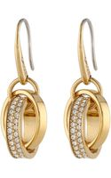 Michael Kors Pave Charm Fishwire Earring - Lyst