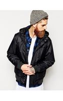 Quiksilver Bomber Jacket with Hood - Lyst