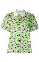 Carven Geometric Print Exclusive Shirt - Lyst