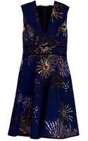 Cynthia Rowley V-Neck Party Dress - Lyst