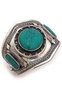 Vanessa Mooney Estelle Malachite Cuff Bracelet - Lyst
