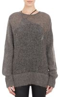 Helmut Lang Oversize Honeycomb Mesh Sweater - Lyst