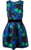 P.a.r.o.s.h. Leaf Print Dress - Lyst