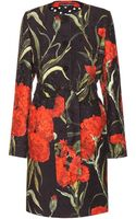 Dolce & Gabbana Floral-printed Jacquard Coat - Lyst