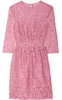 Moschino Cheap & Chic Cotton-blend Lace Dress - Lyst