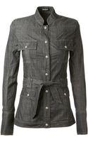 Balmain Black Washed Cotton Shirt - Lyst