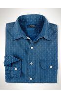 Polo Ralph Lauren Calico-stripe Cotton Workshirt - Lyst