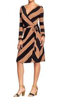 Old Navy Printed Wrapfront Dress - Lyst