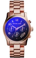 Michael Kors Womens Chronograph Runway Rose Goldtone Stainless Steel Bracelet Watch 38mm - Lyst