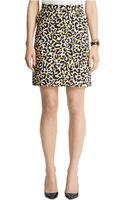 Anne Klein Leopard Print A Line Skirt - Lyst