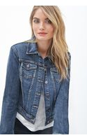 Love 21 Classic Collared Denim Jacket - Lyst