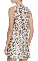 Tory Burch Esmeralda Floral Silk Dress - Lyst