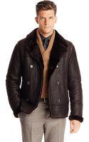 Hugo Boss Tcurton  Lambskin Leather and Fur Bomber Jacket - Lyst