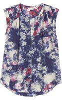 Rebecca Taylor Rose Garden Print Silk Top - Lyst