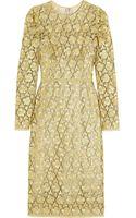 Dolce & Gabbana Metallic Macramã Lace Dress - Lyst