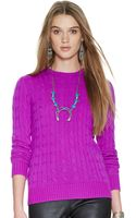 Polo Ralph Lauren Slim-fit Cabled Cashmere - Lyst
