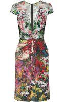 Issa Gathered Floralprint Jersey Dress - Lyst