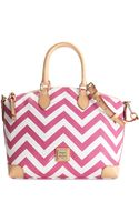 Dooney & Bourke Chevron Satchel - Lyst