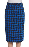 Michael Kors Houndstooth Pencil Skirt - Lyst