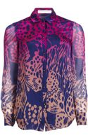 Matthew Williamson Wing Lace Silk Shirt - Lyst