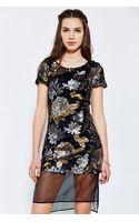 Joa Embellished Dress - Lyst