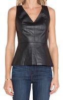 Ella Moss Trinity Faux Leather Top - Lyst