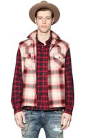 Diesel Checked Light Cotton Flannel Shirt - Lyst