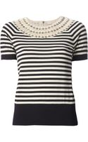 Tory Burch Nautical Stripe Sweater - Lyst