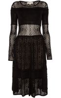Temperley London Fina Lace Fit and Flare Dress - Lyst
