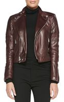 Ralph Lauren Black Label Circuit Leather Biker Jacket - Lyst