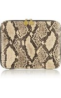 Stella McCartney Snakeeffect Faux Leather Ipad Case - Lyst