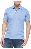 Robert Graham Tino Pique Polo Shirt Bright Blue - Lyst