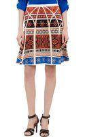 Diane Von Furstenberg Printed Skirt - Lyst